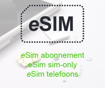 eSim abonnement en sim-only | eSim telefoons en providers